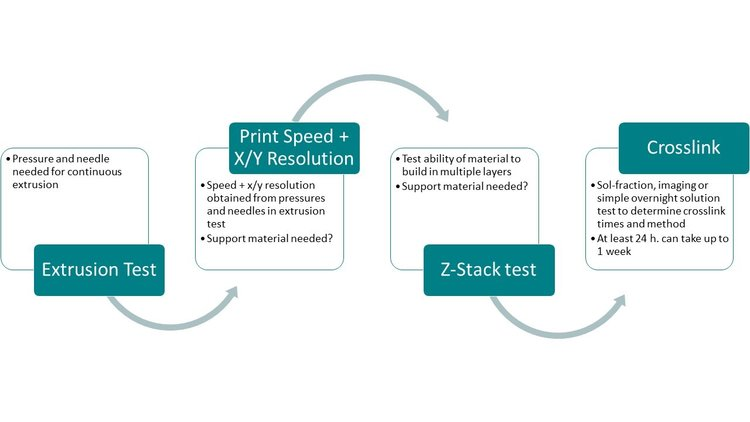 bioink development and optimization how to determine print parameters for a bioprinter