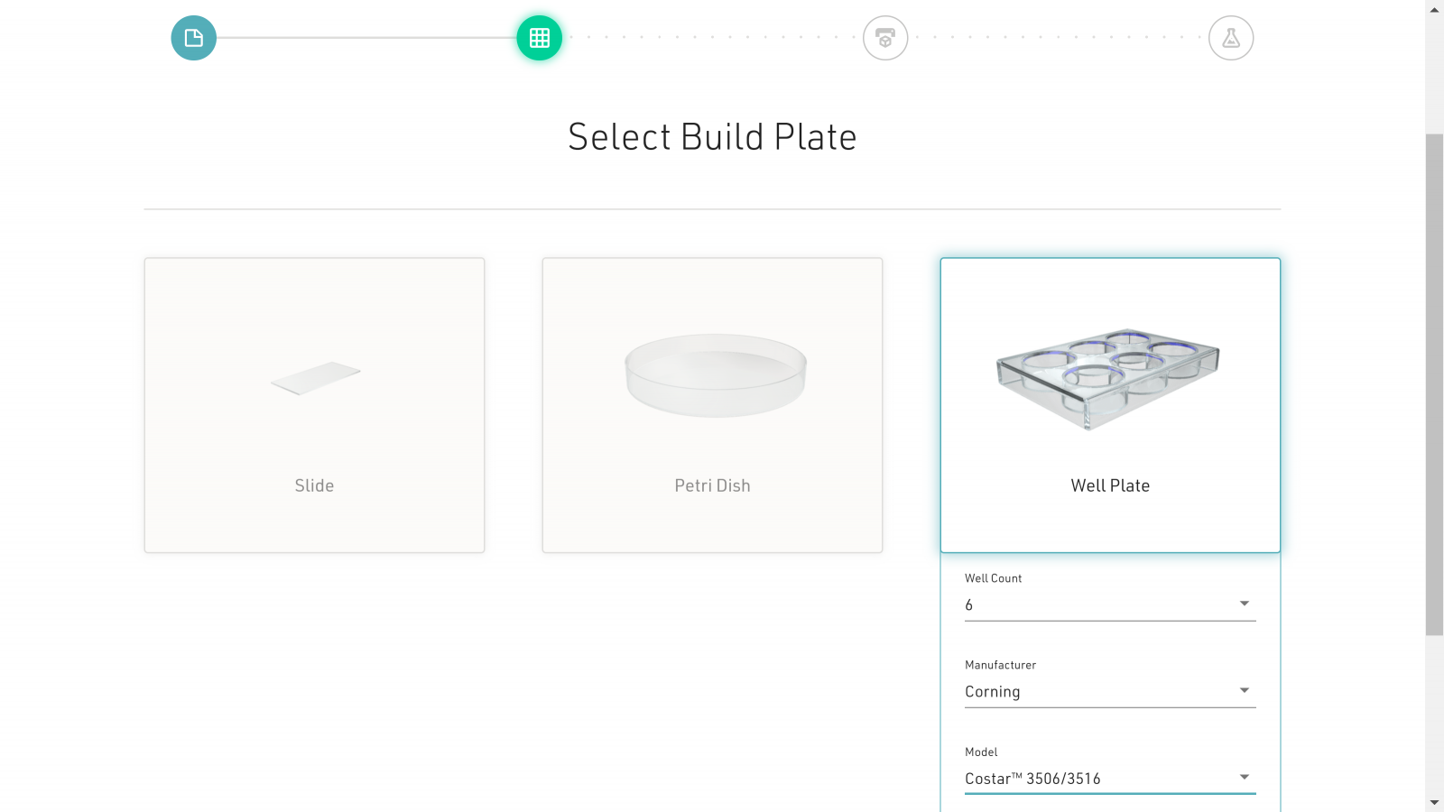 Selecting a build plate for Allevi's project-based software for easy bioprinting
